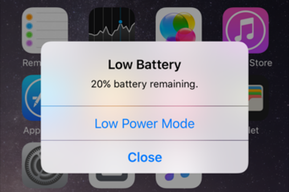 smartphone issues - low battery